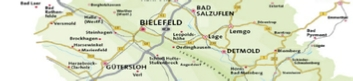 Karte Teutoburger Wald